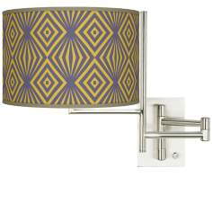 Tempo Deco Revival Plug-in Swing Arm Wall Light