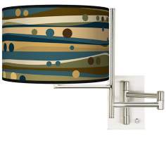 Tempo Dots and Waves Plug-in Swing Arm Wall Light