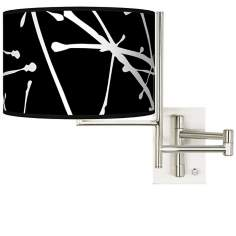 Stacy Garcia Tempo Tree Black Plug-In Swing Arm Wall Light