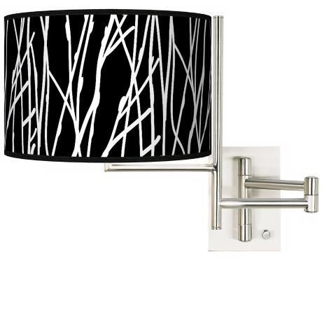 Stacy Garcia Tempo Twiggy Black Plug-in Swing Arm Wall Light
