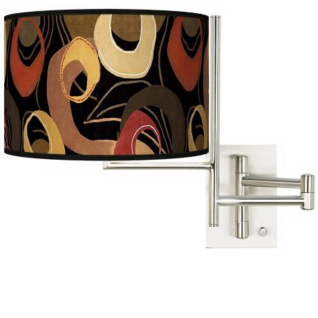 Tempo Rhythm Motif Plug-in Swing Arm Wall Light