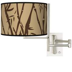 Tempo Earth Bamboo Plug-in Swing Arm Wall Light