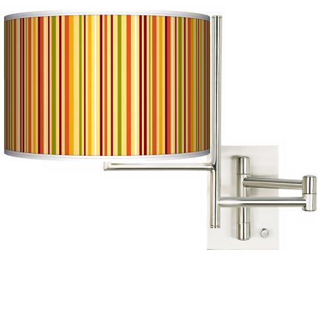 Tempo Stacy Garcia Vertical Harvest Stripe Plug-in Swing Arm