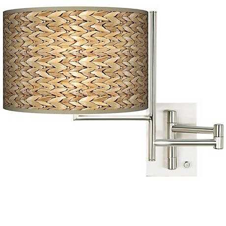 Seagrass Plug-in Swing Arm Wall Light
