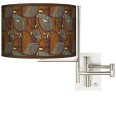 Stacy Garcia Theatric Vine Peacock Plug-in Swing Arm Wall Light