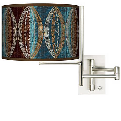 Stacy Garcia Pearl Leaf Peacock Plug-in Swing Arm Wall Light