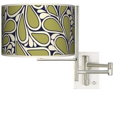 Stacy Garcia Rain Metal Plug-in Swing Arm Wall Light