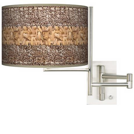 Woven Fundamentals Plug-in Swing Arm Wall Light