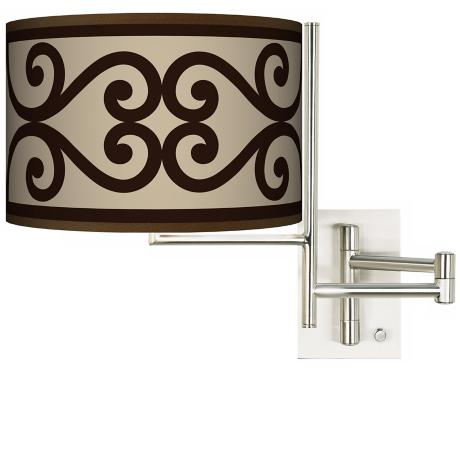 Tempo Cambria Scroll Plug-In Swing Arm Wall Light