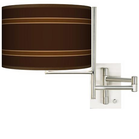 Tempo Saratoga Stripe Plug-In Swing Arm Wall Light