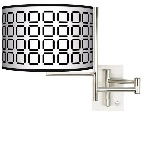 Tempo Open Grid Plug-In Swing Arm Wall Light