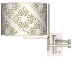 Aster Ivory Plug-In Swing Arm Wall Light