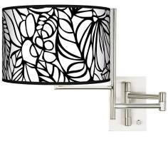 Jungle Moon Plug-In Swing Arm Wall Light