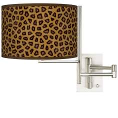 Safari Cheetah Plug-In Swing Arm Wall Light