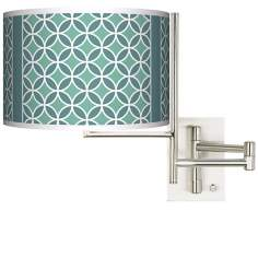 Aqua Rings Giclee Tempo Plug-In Swing Arm Wall Light