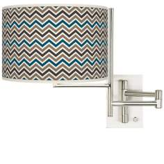 Tempo Zig Zag Plug-in Swing Arm Wall Light