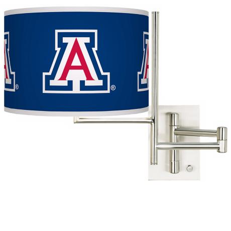 The University of Arizona Steel Swing Arm Wall Light