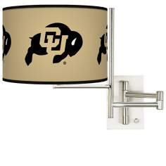 University of Colorado Steel Swing Arm Wall Light