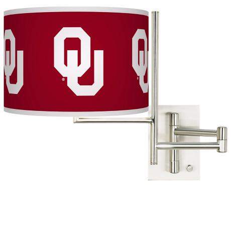 The University of Oklahoma Steel Swing Arm Wall Light