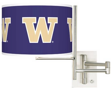 University of Washington Steel Swing Arm Wall Light