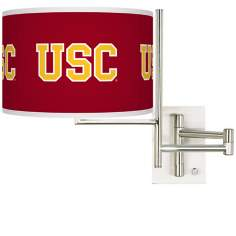 University of Southern California Steel Swing Arm Wall Light