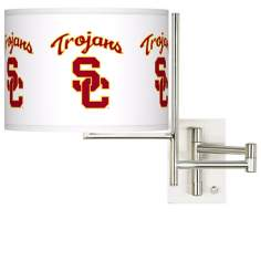 USC Trojans Steel Swing Arm Wall Light