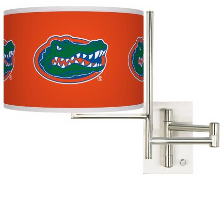 University of Florida Steel Swing Arm Wall Light