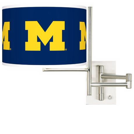 The University of Michigan Steel Swing Arm Wall Light