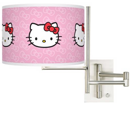 Hello Kitty Classic Plug-In Swing Arm Wall Light