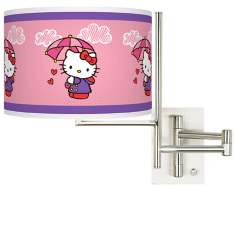 Hello Kitty Rain or Shine Plug-In Swing Arm Wall Light