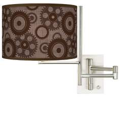 Industrial Gears Plug-in Swing Arm Wall Light