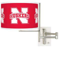 Nebraska Huskers Steel Swing Arm Wall Light