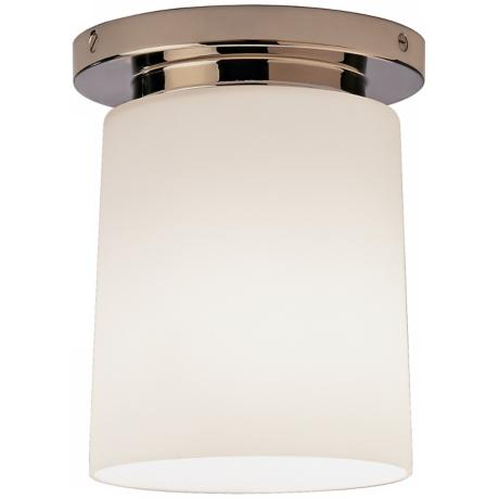 "Nina Collection Nickel 6"" Wide Flushmount Ceiling Light"