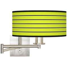 "Bold Lime Green Stripe 12"" Drum Swing Arm"