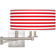 "Red Horizontal Stripe 12"" Drum Swing Arm"