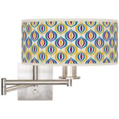"Scatter Giclee 12"" Wide Swing Arm Wall Light"