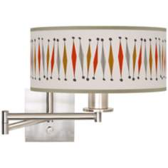 "Tremble Giclee 12"" Wide Swing Arm Wall Light"