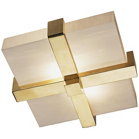 "Robert Abbey Doughnut Cross Brass 16"" Wide Ceiling Light"
