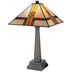 Dale Tiffany Chocolate Bronze Mission Style Table Lamp
