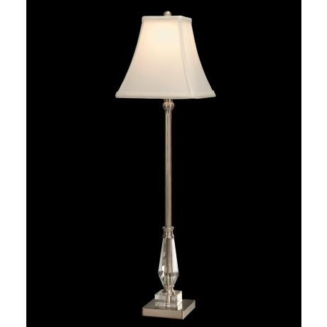 Dale Tiffany Brushed Nickel Sieve Buffet Table Lamp