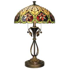Dale Tiffany Vine Base Art Glass Table Lamp
