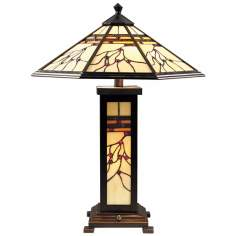 Dale Tiffany Mission Hills Art Glass Night Light Table Lamp