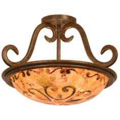 "Santa Barbara Collection 19"" Wide Ceiling Light Fixture"