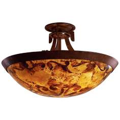 "Copenhagen Pen Shell Glass 20 1/2"" Wide Ceiling Light"
