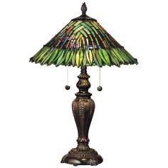 Dale Tiffany Leavesley Art Glass Table Lamp