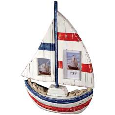 Judith Edwards Designs Boat-Shaped 2-Photo Frame