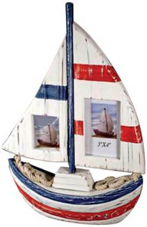 Judith Edwards Designs Boat-Shaped 2-Photo Frame (K1890)