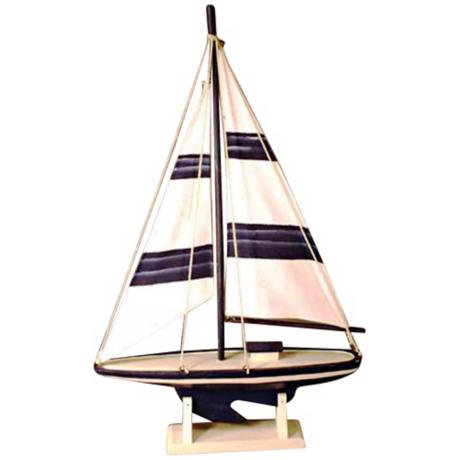 "Sailing Ship 18"" High Wall Mount Coat Hanger"