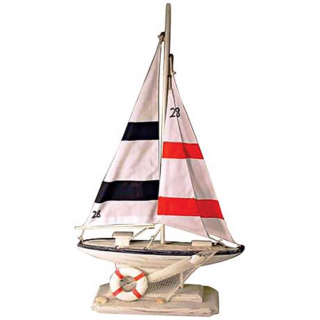 Newport Sloop Sailing Boat Decorative Accent