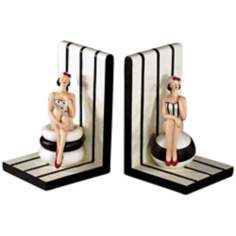 Bathing Beauty Bookends